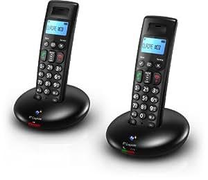 BT Graphite 2100 Twin DECT Digital Cordless Phone - Black