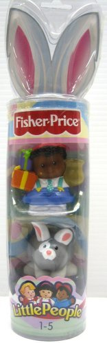 Fisher-Price Little People Spring 2006 Easter Tube Michael Gray Bunny Rabbit L5786