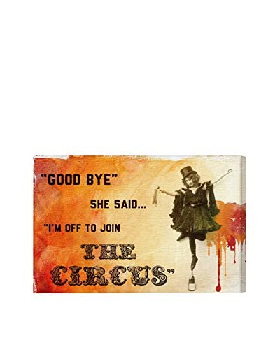 "Oliver Gal ""Join The Circus Orange"" Canvas Art"