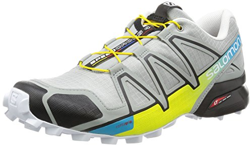 Salomon Speedcross 4, Scarpe da Trail Running Uomo, Grigio (Light Onix/Black/Corona Yellow), 42 2/3 EU