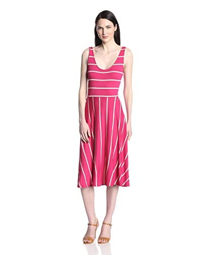 Three Dots Women's Striped Midi Dress