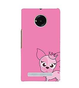 EPICCASE Princess Dog Mobile Back Case Cover For YU YUNIQUE (Designer Case)