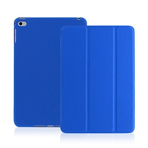 iPad Air 2 Case (iPad 6) - KHOMO DUAL Super Slim Dark Blue Twill Cover with Rubberized back and Smart Feature (Built-in magnet for sleep / wake feature) For Apple iPad Air 2 Tablet (Ipad Air 2 Khomo Dual compare prices)