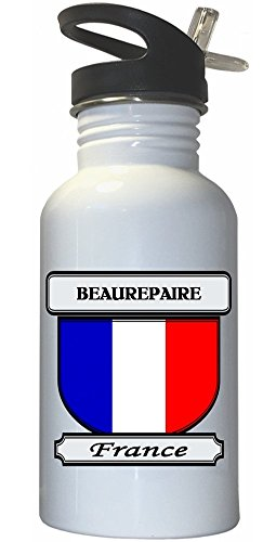 beaurepaire-france-city-white-stainless-steel-water-bottle-straw-top