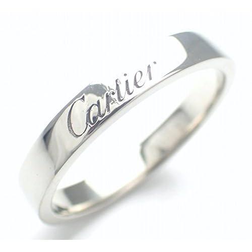 [カルティエ] Cartier エングレーヴド ウェディング リング 指輪 Pt950 プラチナ #53 B4054053 B4054000 [中古]