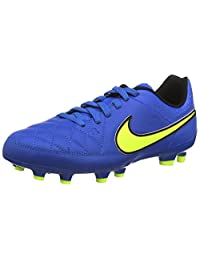 Nike Jr. Tiempo Genio Leather FG Soccer Cleat (Soar Blue)