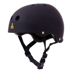 Triple 8 Brainsaver CPSC Certified Helmet (Black Rubber, Large/X-Large)