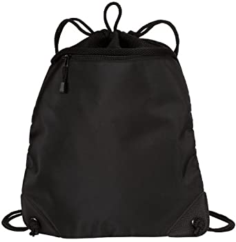 Port Authority - Cinch Pack Backpack with Mesh Trim. BG81 - Black
