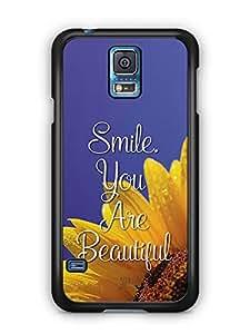 YuBingo Smile. You are Beautiful Designer Mobile Case Back Cover for Samsung Galaxy S5