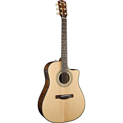 Fender Cd-220Sce Dreadnought Cutaway Acoustic-Electric Guitar With Ash Burl Back And Sides - Natural