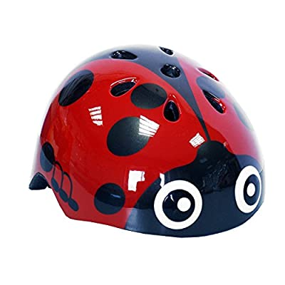 Kids Moulded 3D Helmutts Ladybird Girls Safety Helmet Bicycle Scooter Skating from Grossman