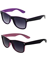 AR UV Protected Kids Wayfarer Sunglasses - 4 To 8 Years (Combo_Kids_Wayfarer_Purple_Pink)