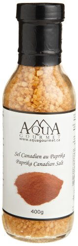 Aqua Gourmet Paprika Canadian Salt, 400-Grams (Pack of 3)