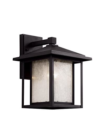 Bel Air Lighting 1-Light Wall Lantern, Black
