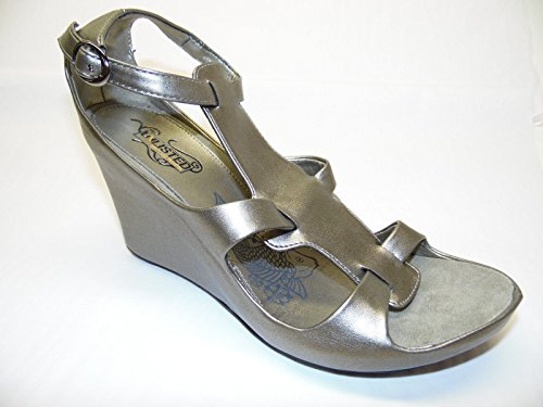 Unlisted By Kenneth Cole Tangled Pewter Wedge Sandal 10