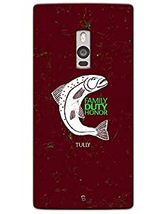 """myPhoneMate Game of Thrones GOT """"Family Duty Honor"""" House Tully case for One Plus 2"""