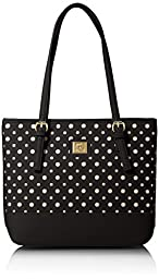 Anne Klein Perfect Tote Shopper Sm, Black/Black/Silver