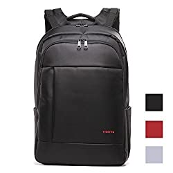 Kopack Deluxe Black Waterproof Laptop backpack 14 15.6 17 Inch business trip computer daypack double laptop compartment