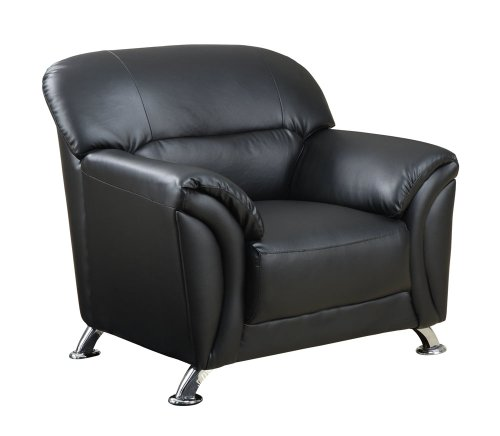 Best Global Furniture USA Vinyl Matching Chair with Black Chrome Legs