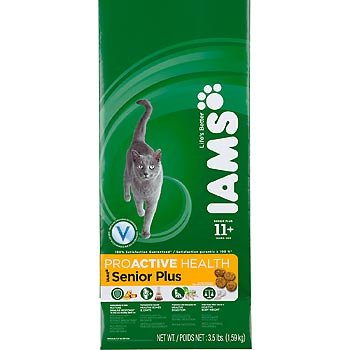 Detail image Iams ProActive Health Adult Cat Senior Plus (11+ Years), 3.5-Pound Bag