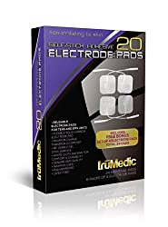 truMedic Replacement Pads Oem Tens Electrode Pads White 24 Individual Pads
