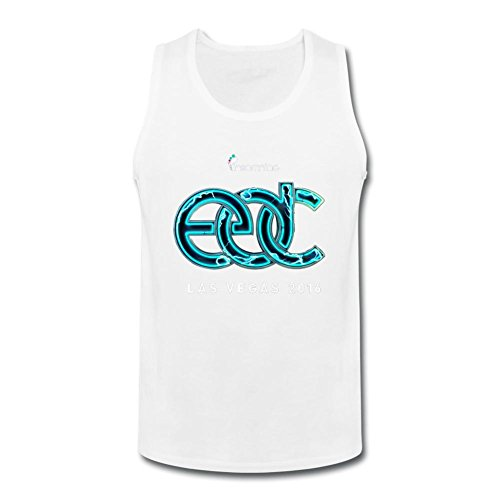 SUNRAIN Men's 2016 Electric Daisy Carnival EDC Las Vegas Logo Tank Top
