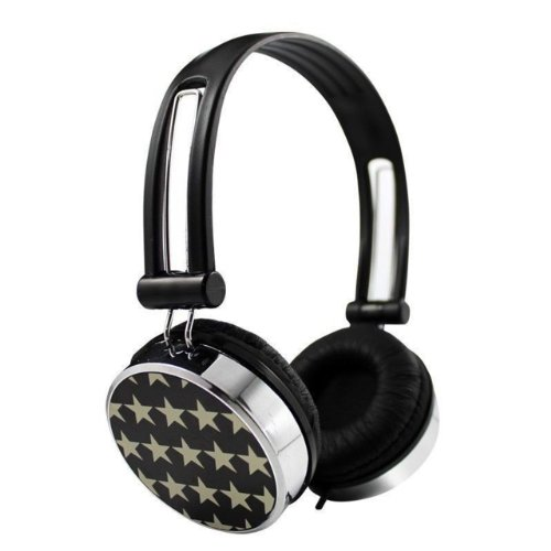 Nuoya001 Stars Overhead Childrens Kids Girls Boy Headphones Kindle Fire Hd Pc Tv Dvd Black