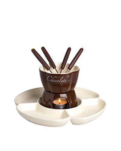 ZZZ_Merry Christmas Fondue de Chocolate 8 Piezas 25 cl Crema/Marrón