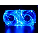 XBOX 360 BLUE LED LIGHT WHISPER FAN 58% LESS HOT AIR!!!by Talismoon
