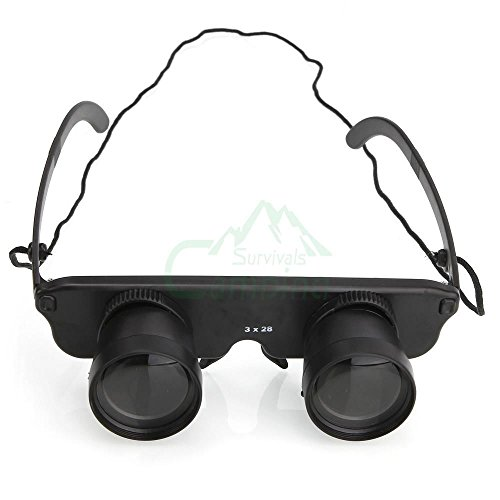 New 3X28Mm Magnifying Glasses Binocular Fishing-Glasses #C712