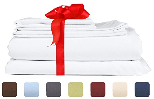 Full Size Sheet Set - 6 Piece Set - Hotel Luxury Bed Sheets - Extra Soft - Deep Pockets - Easy Fit - Breathable & Cooling Sheets - Wrinkle Free - Comphy - White Bed Sheets - Fulls Sheets - 6 PC (Full Sheet Set Hotel compare prices)