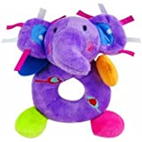 New 10 Cm Soft Toy Elephant Animal Hand Bell Toy For Kids