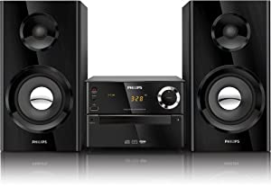 Philips MCM2150/12 Mini-Stereoanlage (Bassreflex-System, USB-Direct, Audio-IN, 70 Watt) schwarz