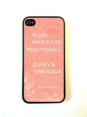 iPhone 5 Case ThinShell Case Protective iPhone 5 Case Vintage French Coco Chanel Quote Coral