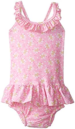 i play. Baby-Girls Infant Ultimate Swim Diaper Ruffle Tanksuit-Classic Light, Pink, 2-3 Years