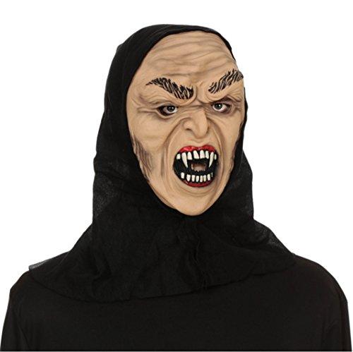 [Hooded Horrors Demonic Halloween Mask (Vampire)] (Demonic Masks)