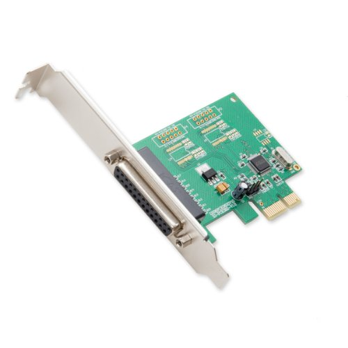 Syba Parallel 1 Port PCI-e Controller Card with Full and Low Profile Brackets and WCH382L Chipset SI-PEX10010 (Green)