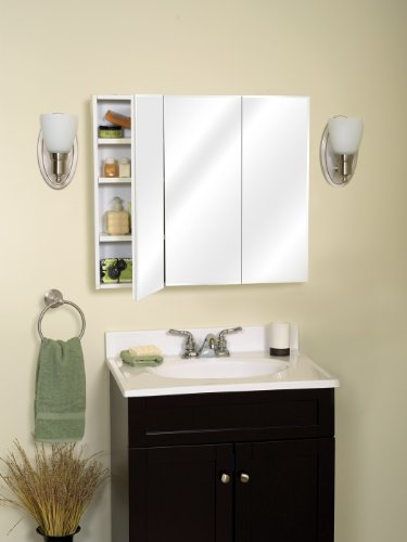 Zenith M30 Beveled Tri View Medicine Cabinet Frameless Home Garden Bathroom Accessories Cabinets
