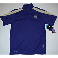 Washington Huskies Purple Nike Dri-Fit Stay Cool Polo Shirt (Medium) by Nike
