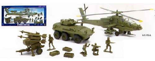 Buy Low Price New Ray Glorious Mission Deluxe Army Apache Helicopter Military Playset 1:32 Scale Figure (B004RIMIZG)