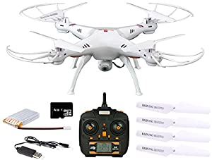 Dynamic Aerial Systems X4 Spartan 2.4GHz 4CH 6-Axis Gyro RC Quadcopter Drone with 2MP Camera & Large LED Lights