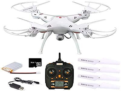Dynamic Aerial Systems X4 Spartan 2.4GHz 4CH 6-Axis Gyro RC Quadcopter Drone with 2MP Camera & Large LED Lights by Dynamic Aerial Systems