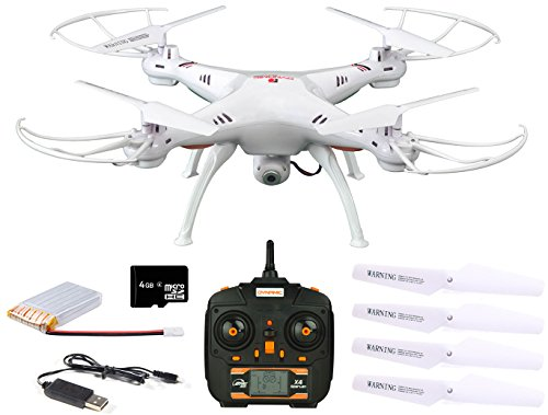 Dynamic Aerial Systems X4 Spartan 2.4GHz 4CH 6-Axis Gyro RC Quadcopter Drone with 2MP Camera & Large LED Lights (Heavy Equipment Models compare prices)