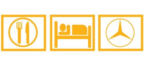 2 x Eat Sleep MercedesGelb Aufkleber Size: 21,5x5,5cm decals stickers die cut vinyl