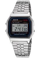 Casio - A159W-1D - Vintage - Montre Mixte - Quartz Digital - Cadran LCD - Bracelet Acier Gris