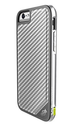 X-Doria iPhone 6S/6 Defense Lux [Military Grade Drop Tested] TPU & Aluminum Premium Protective Case-Silver Carbon Fiber (Carbon Iphone 6 Case compare prices)