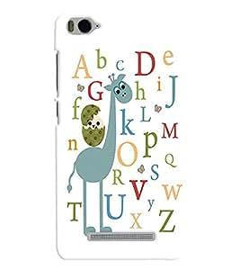 printtech Alphabets Back Case Cover for Xiaomi Redmi MI 4C::Xiaomi Mi 4C