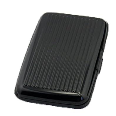 Donalworld Unsexy-adult Waterproof Business ID Wallet Aluminum Metal Plastic Card Holder Mini Bag Black