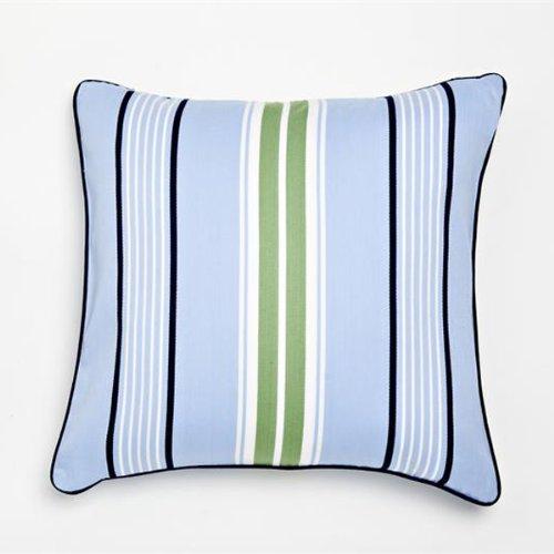 Blue Preppy Stripe Decorative Pillow front-802676