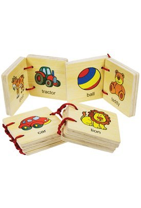 Baby Toddler Toys : Set of 4 Wooden Baby Books